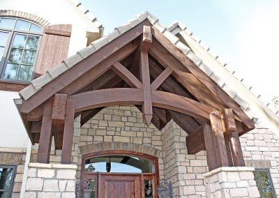 Timber Frame Entry