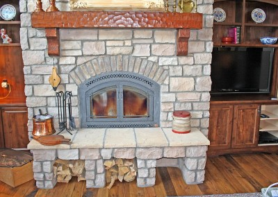 Real Wood Burning Fireplace