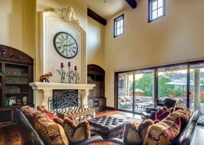 Family Room and Fireplace