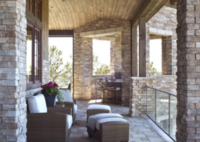 Castle Pines Village custom home outdoor living space