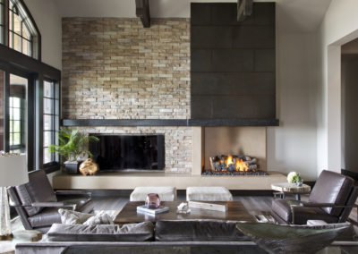 Castle Pines Village custom home fireplace