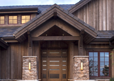 Castle Pines Village custom home entry
