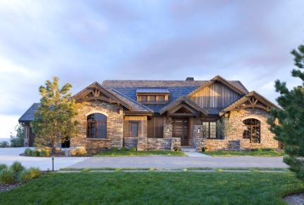castle pines village denver custom home