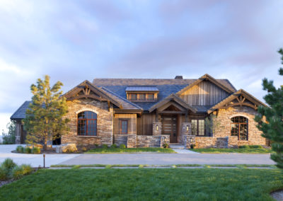 Castle Pines Village custom home exterior