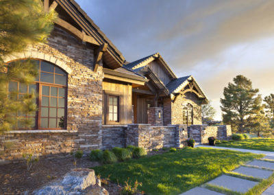 Castle Pines Village custom home front exterior