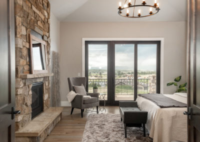 Colorado Golf Club Peregrine master bedroom fireplace